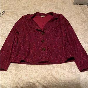 Cabi frolic plum berry/color me fall blazer